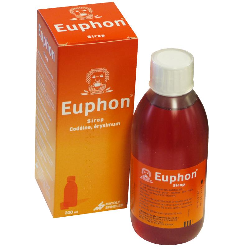 Prix d'Euphon sirop adultes - Flacon de 300ml - Mayoly