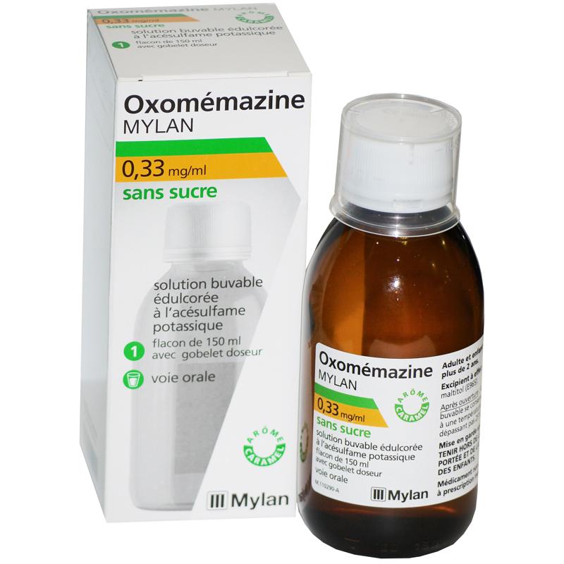Oxomémazine Sirop sans sucre Toux sèches - MYLAN