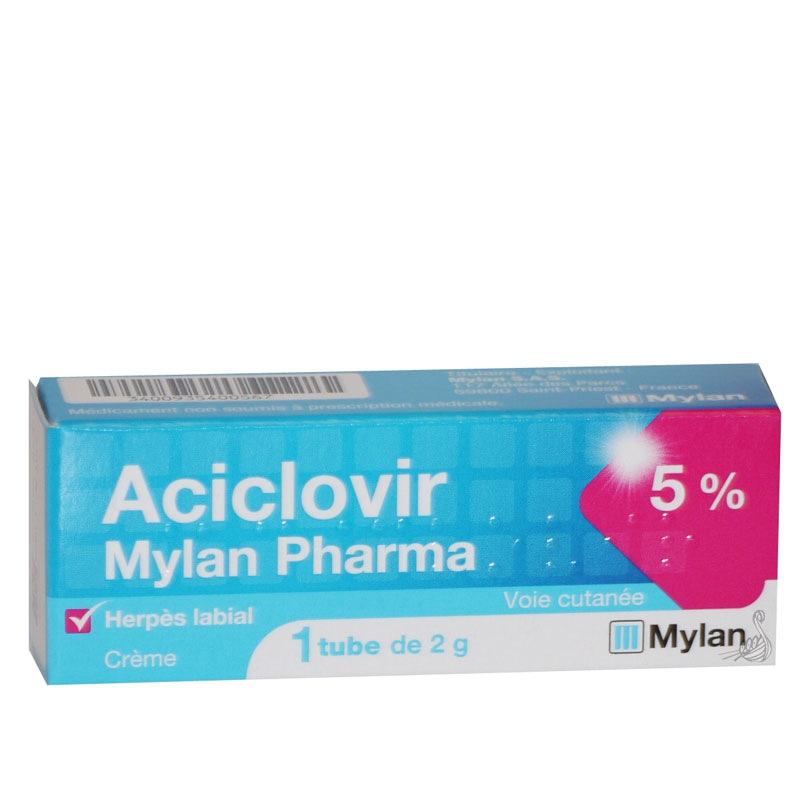 Aciclovir crème - MYLAN | Pharmacie des drakkars