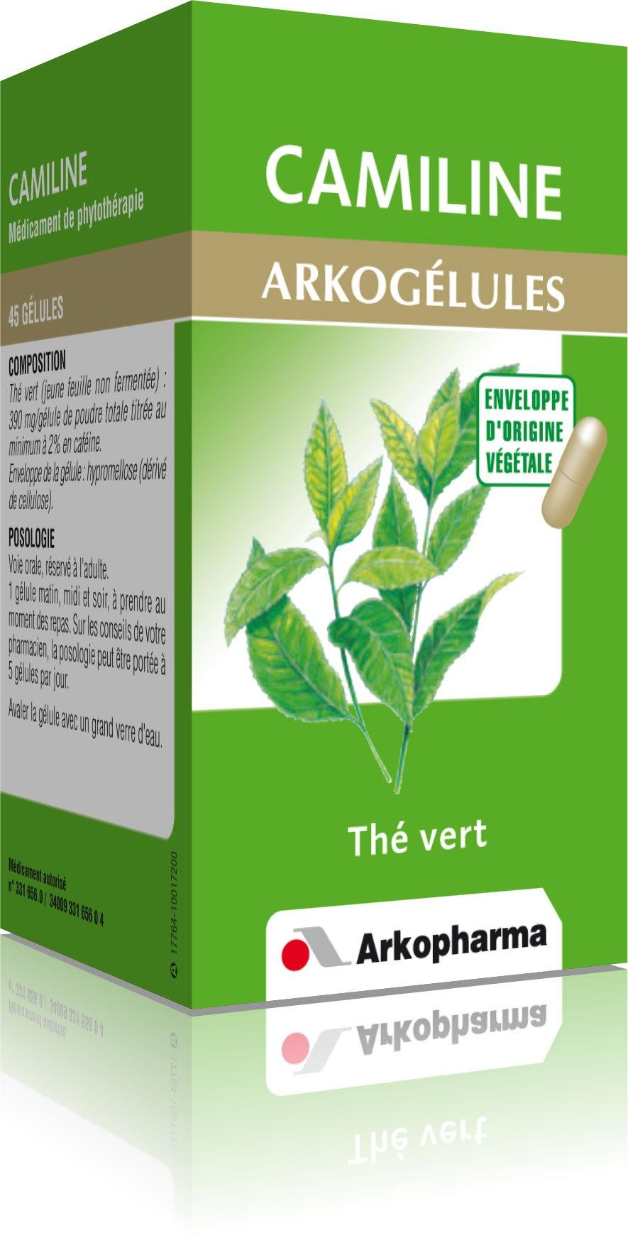 Prix d'ARKOPHARMA Arkogélules Camiline 390 mg - 45 gélules