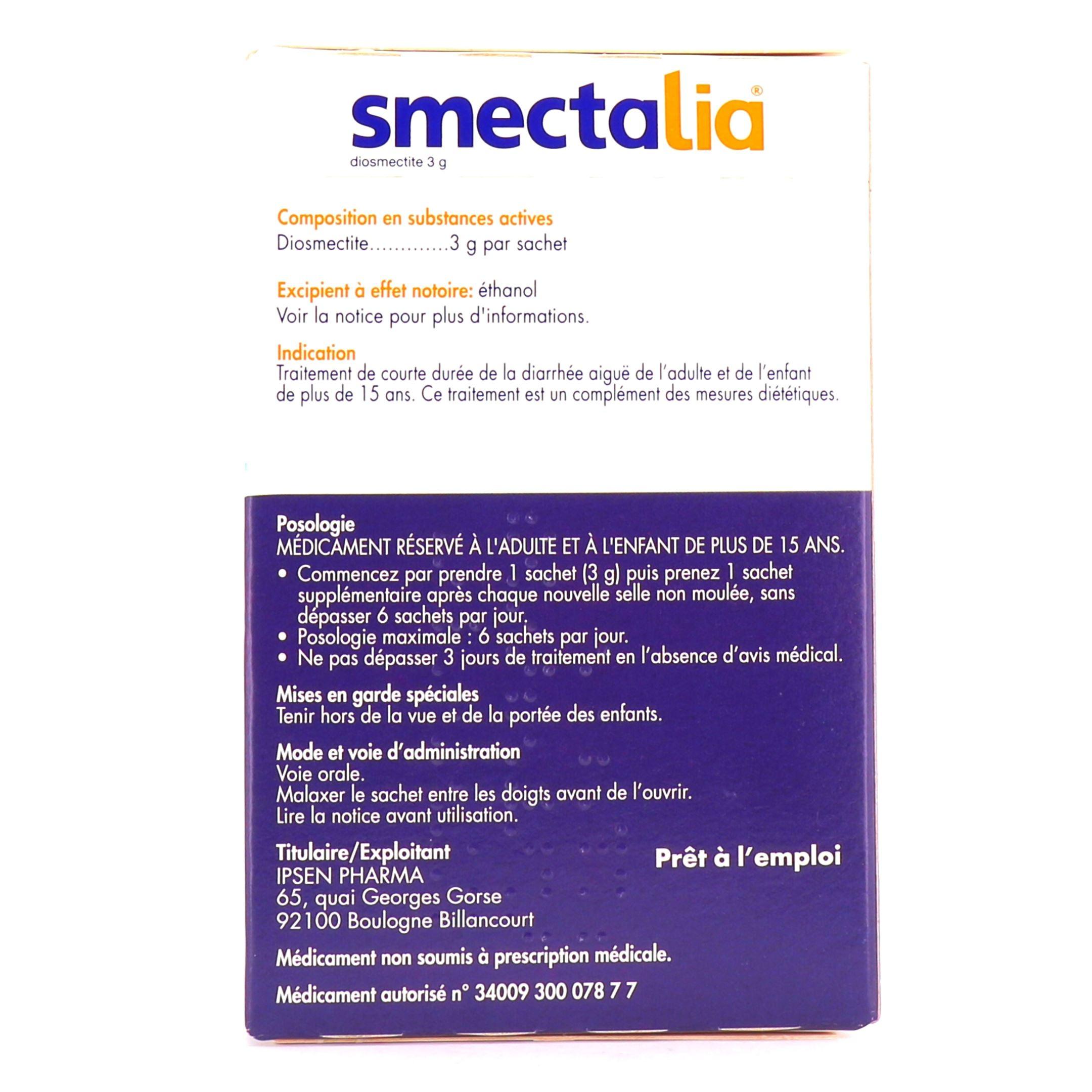 Smectalia 3g en sachet Goût caramel cacao