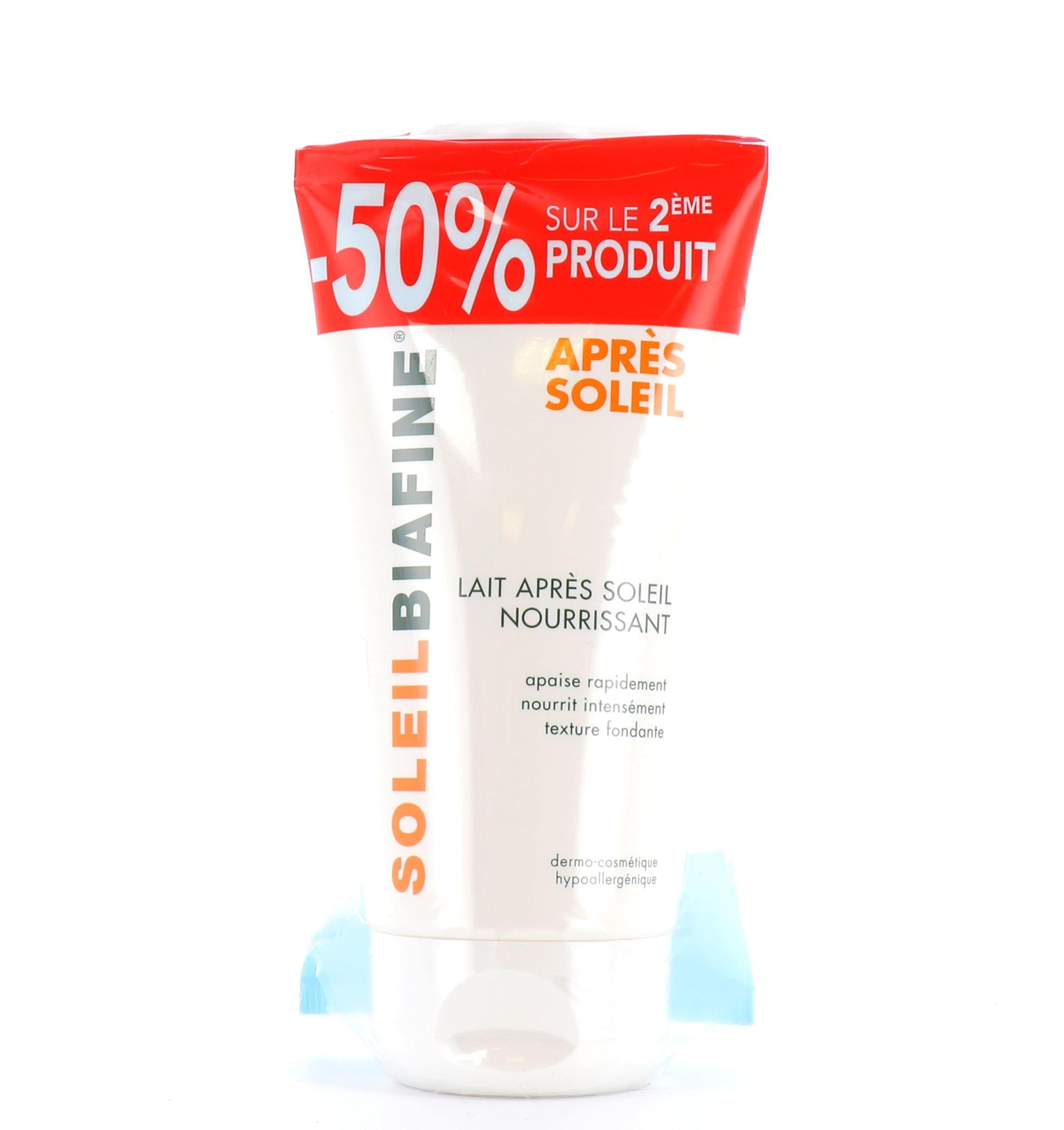 luxe Nouveaux produits comment acheter Soleil Biafine - Lait Après-Soleil Nourrissant - 2 x 150ml