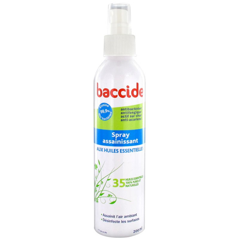 baccide spray assainissant aux huiles essentielles 200 ml. Black Bedroom Furniture Sets. Home Design Ideas