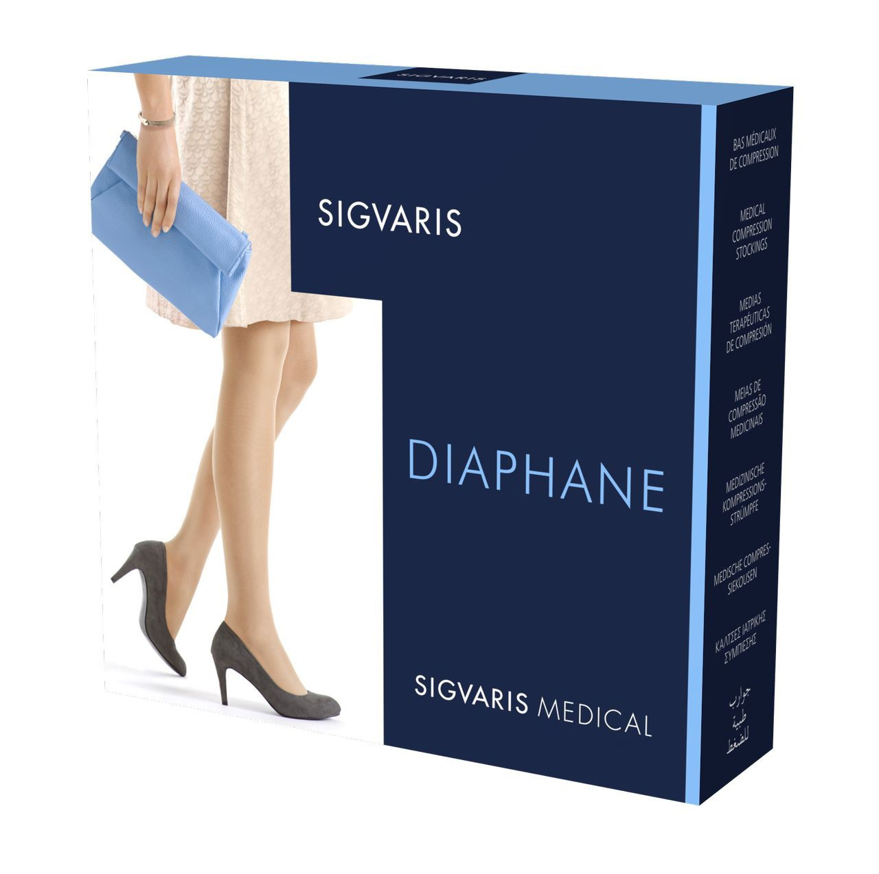 quality on feet shots of available Bas Auto-Fixant Diaphane Classe 3 Pied Ouvert Sigvaris