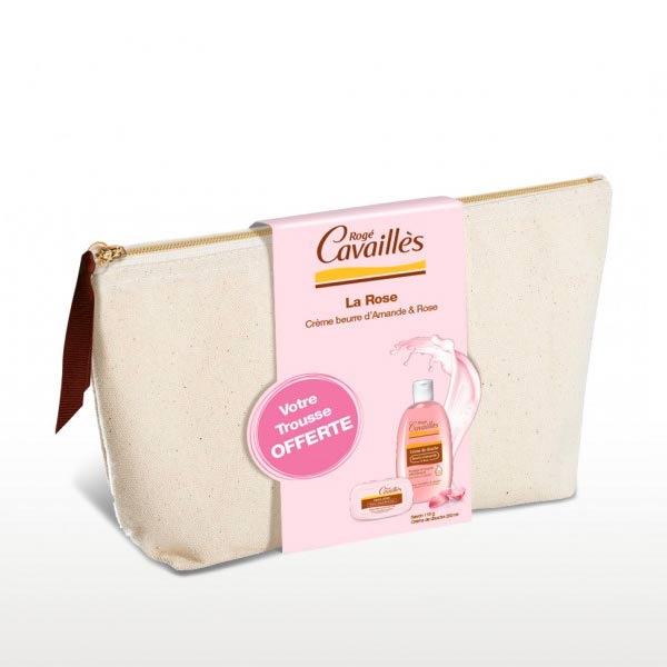 Rogé Cavaillès - Trousse Amande et Rose Crème de Douche 250Ml et Savon 115  Grammes- f348ae6a4e5