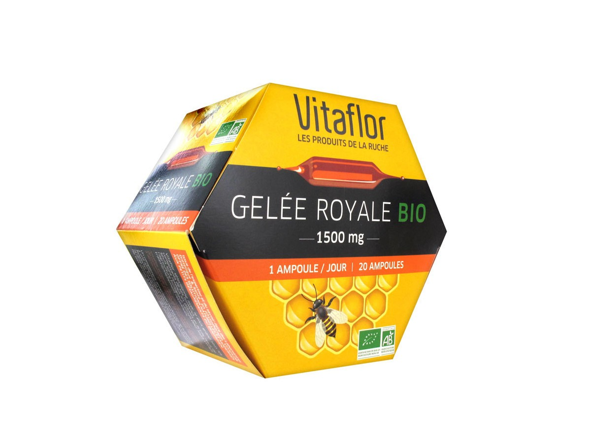 prix de vitaflor bio gel e royale 1500mg bo te de 20 ampoules buvables. Black Bedroom Furniture Sets. Home Design Ideas