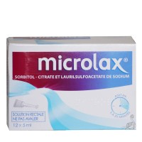 Microlax solution rectale 12 doses