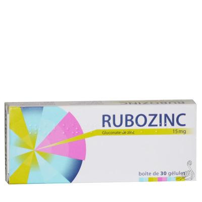 Rubozinc 15 mg gélules - Labcatal | Pharmacie des drakkars