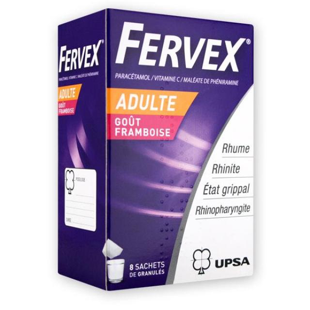 UPSA - Fervex adulte framboise - 8 sachets - UPSA   Pharmacie des ...