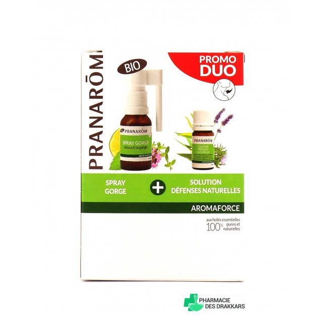AromaForce Duo Spray Gorge 15ml + Défenses Naturelles 5ml
