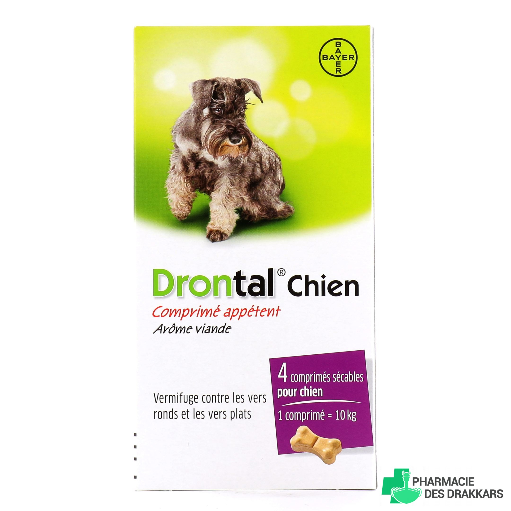 Drontal P Bone Vermifuge Chien Arôme Bœuf - Bayer ...