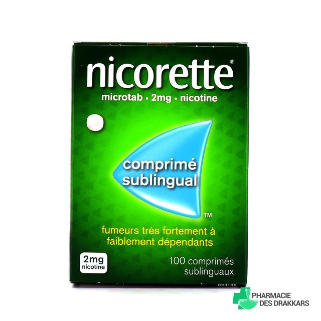 Nicorette Microtab 2 mg 100 comprimés nature